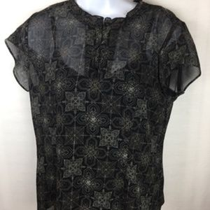 Covington Size 6 Blouse With Tank Semi-Fitted Top